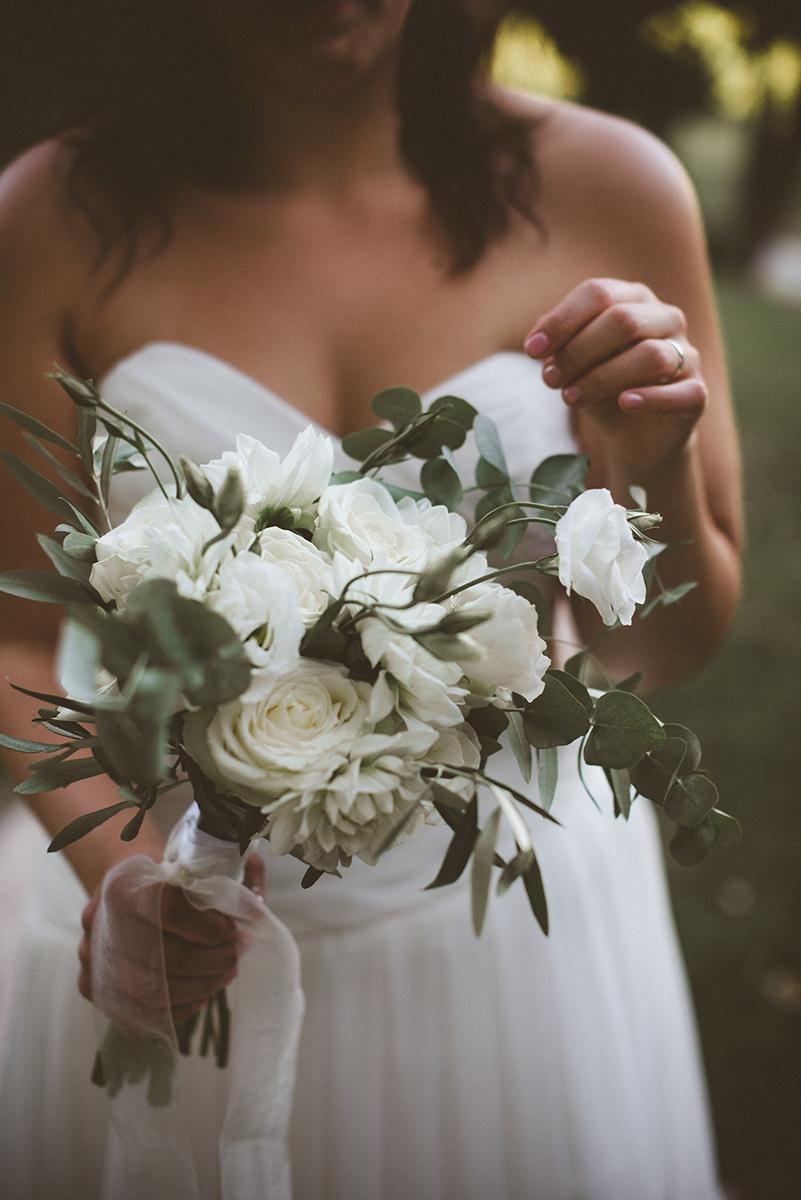 Bouquet dalie e lisiantus